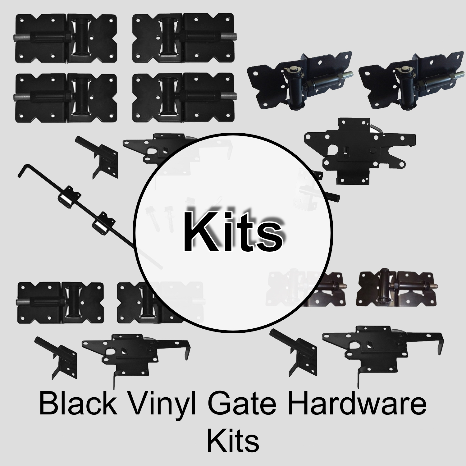 Black Vinyl Gate Hardware Kits