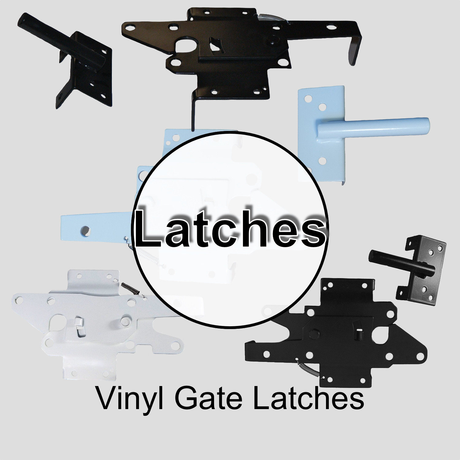 Vinyl Gate Latches
