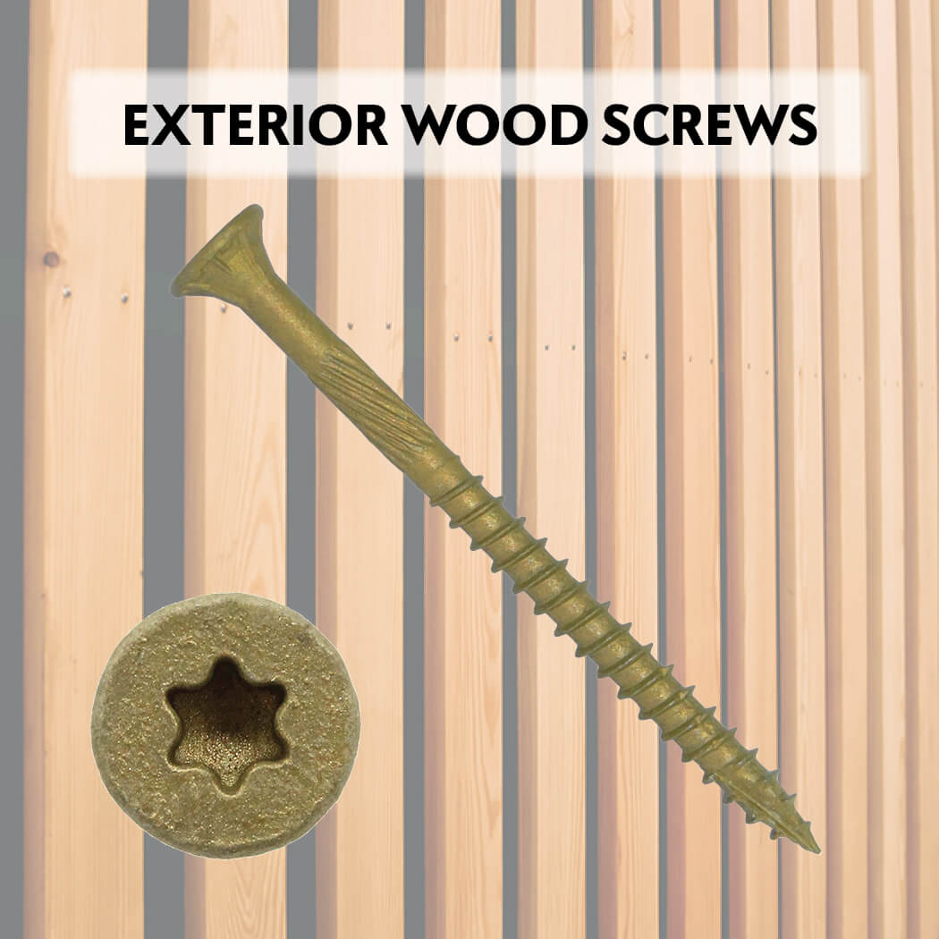 High Performance Exterior Coated Wood Screws