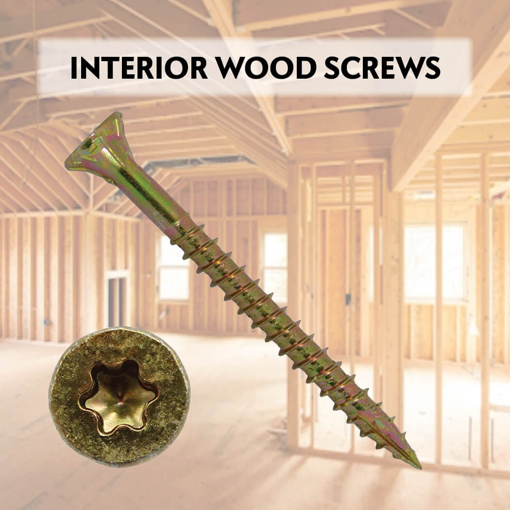 Yellow Zinc Coated General Purpose Wood Screws