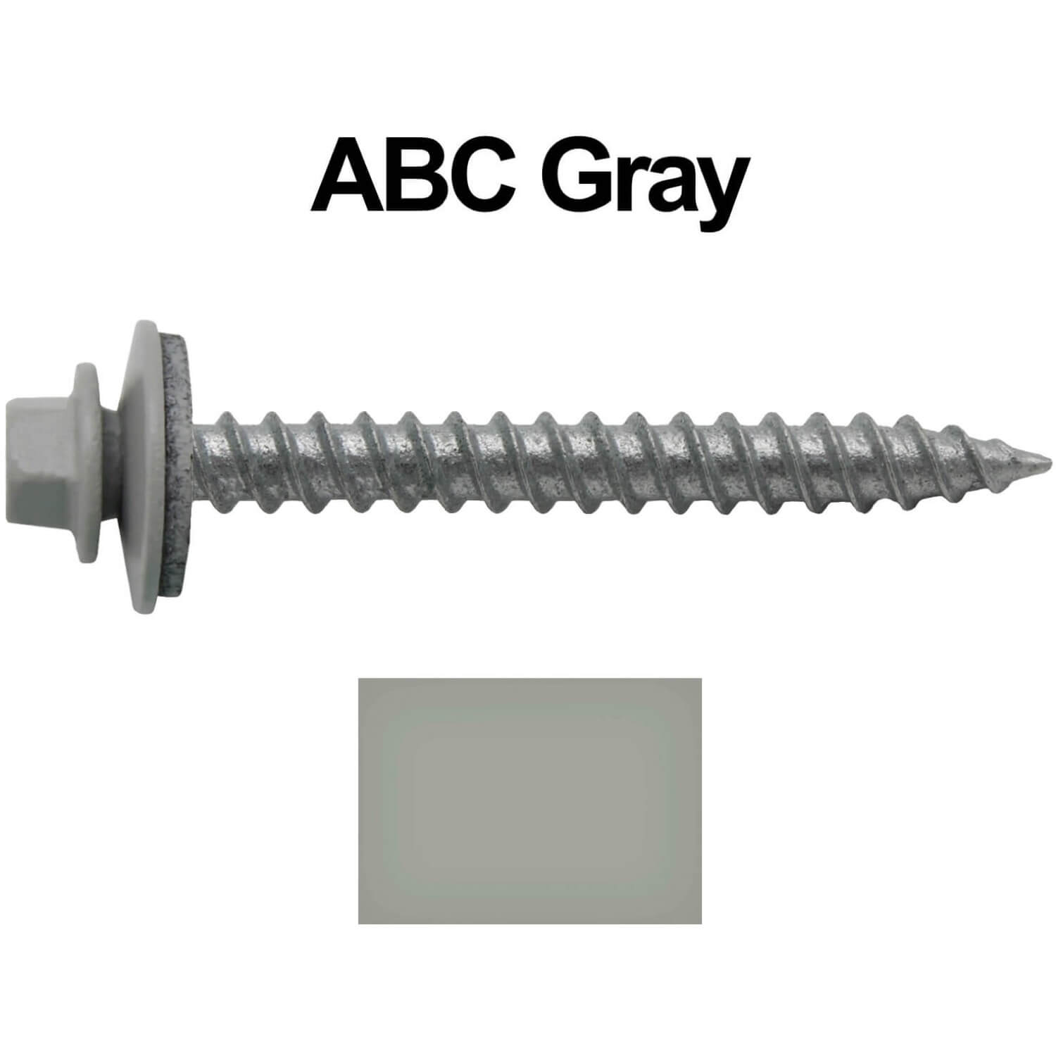 Metal ROOFING SCREWS: (250) 12 x 2