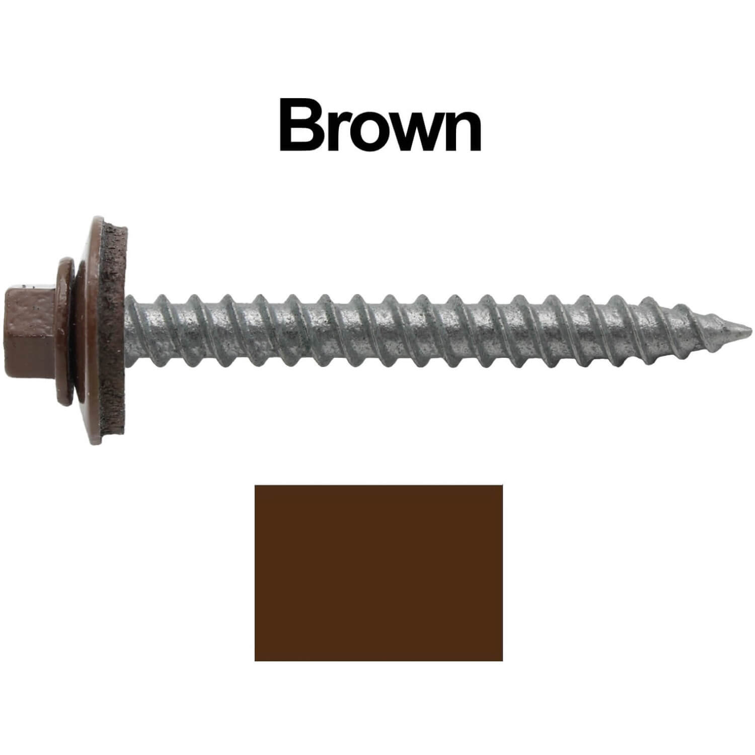 Metal ROOFING SCREWS: (250)12 x 2