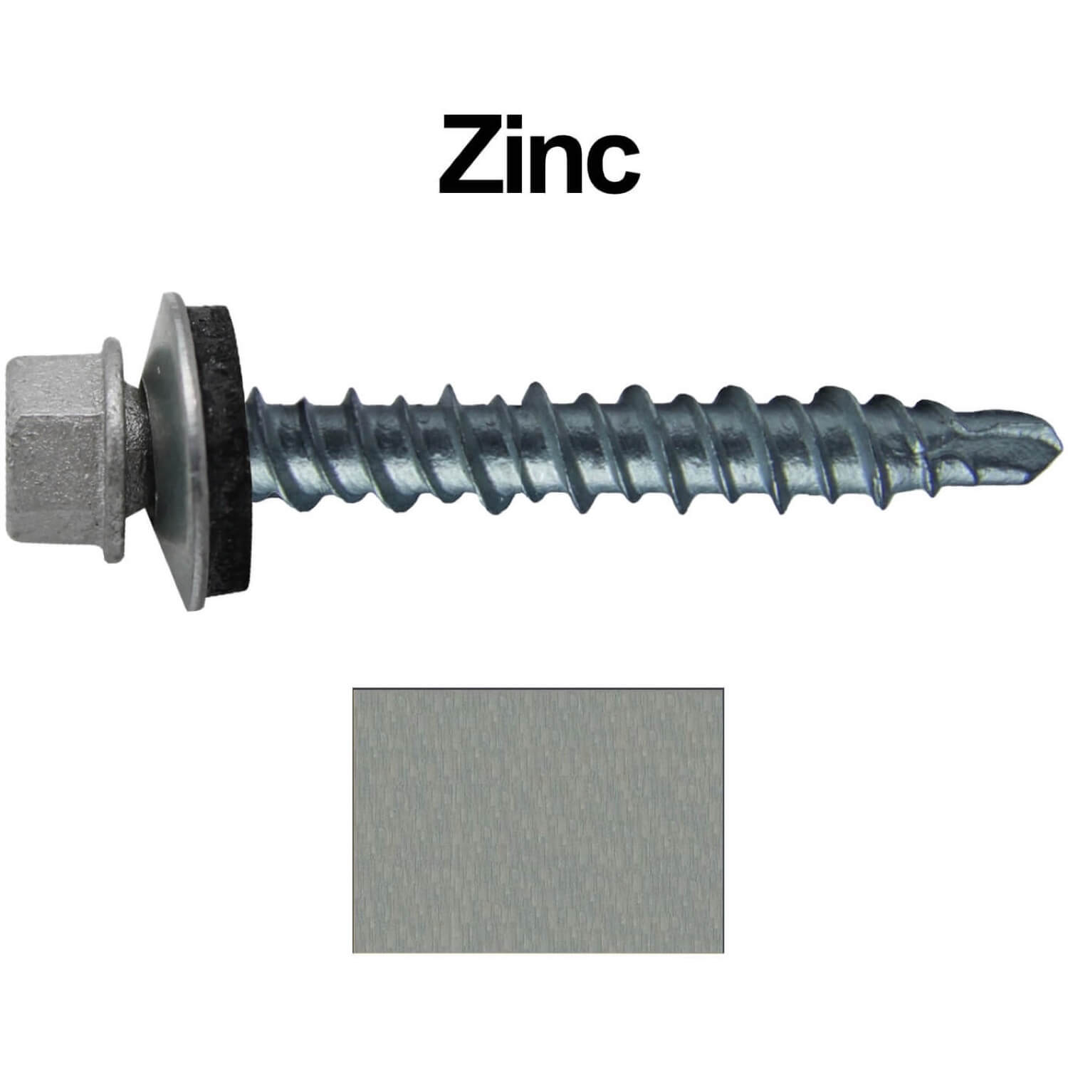 Metal ROOFING SCREWS: (250) 10 x 1