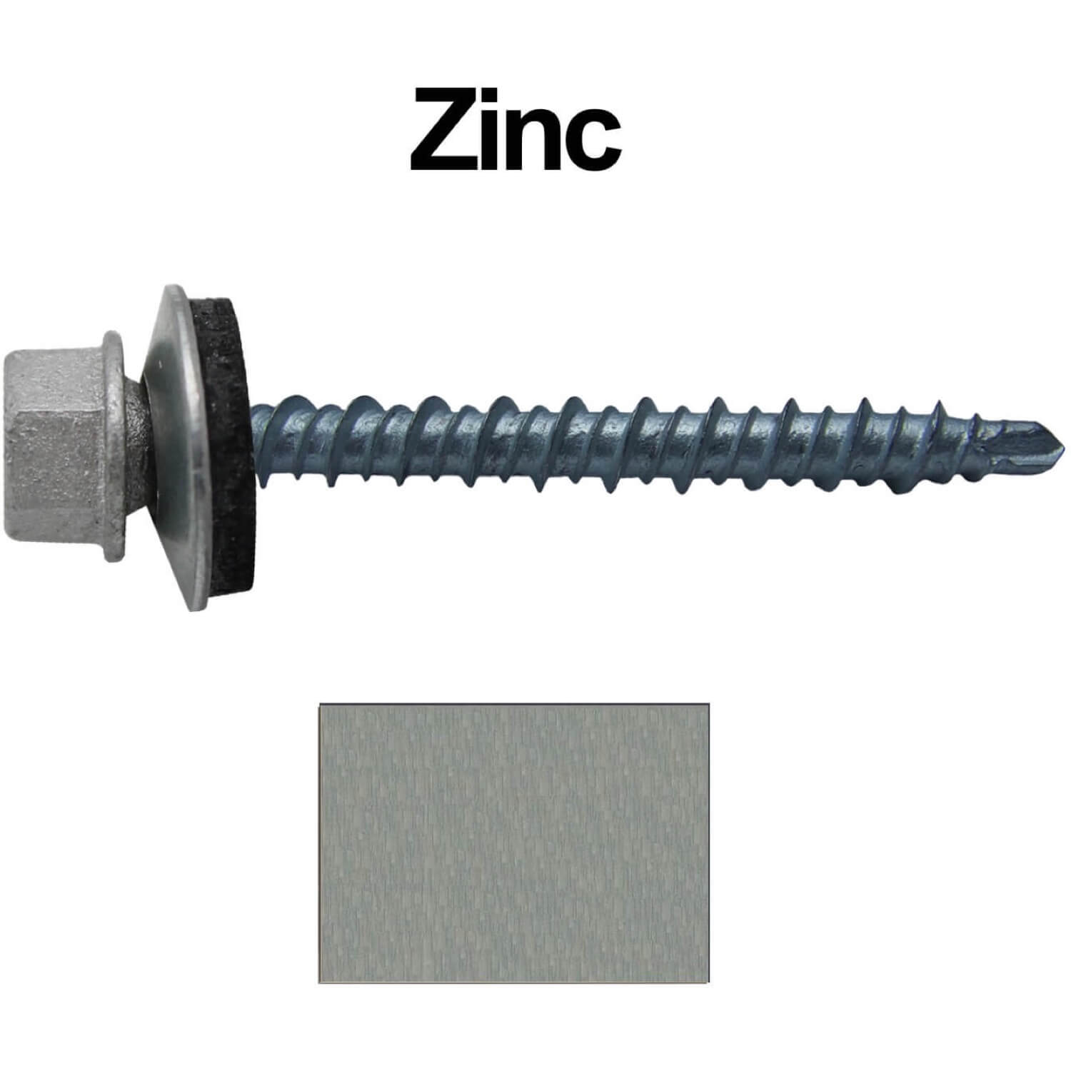Metal ROOFING SCREWS: (250) 10 x 2