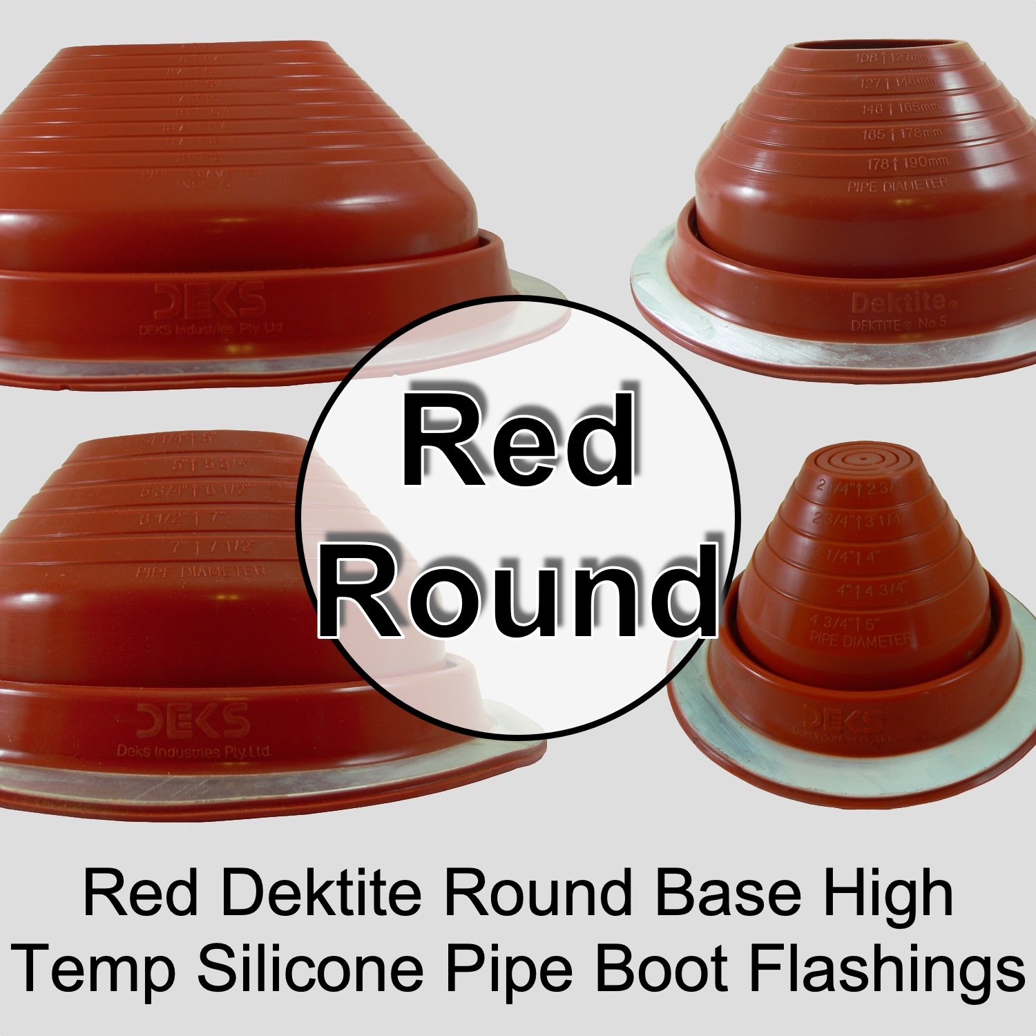 Metal Roof Round High Temperature Silicone Chimney Stove Pipe Flashing