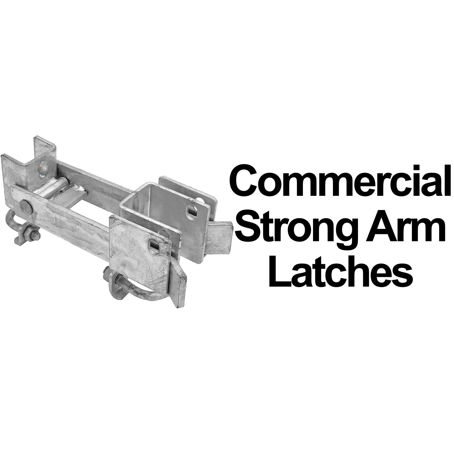 Chain Link Double Gate Strong Arm Latches