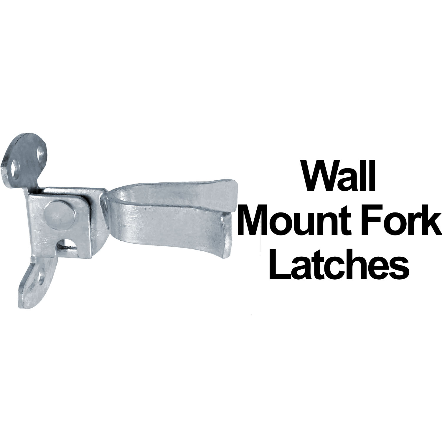 Wall Mount Flat Back Fork Gate Latch