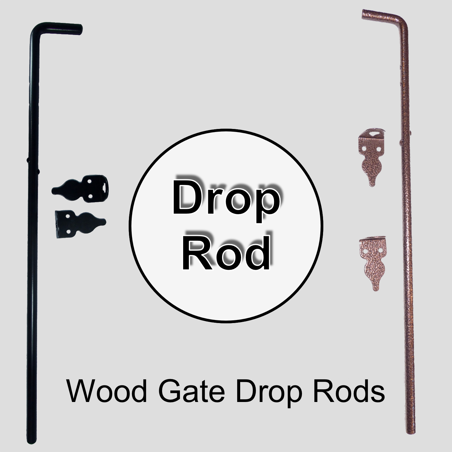 Wood Gate Drop Rods