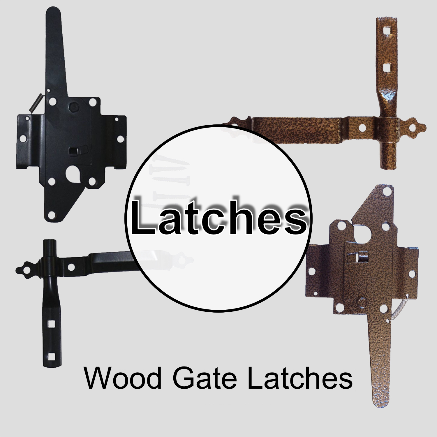 Wood Gate Latches & Handles