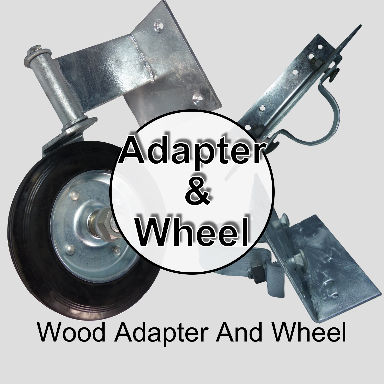 Wood Fence Post Adapters and Gate Wheels