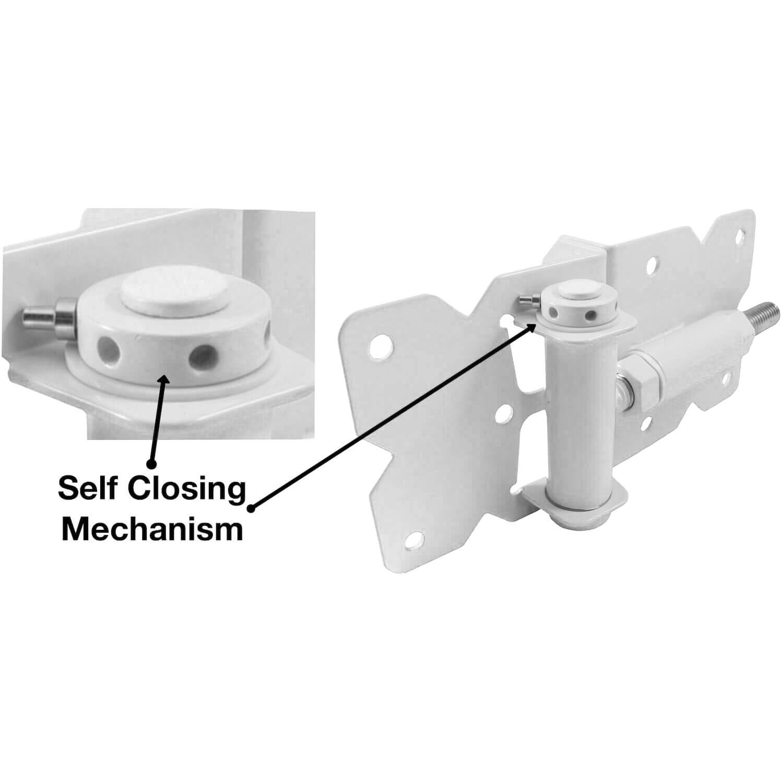 Self Closing Vinyl Gate Hinges White For Vinyl Pvc Etc
