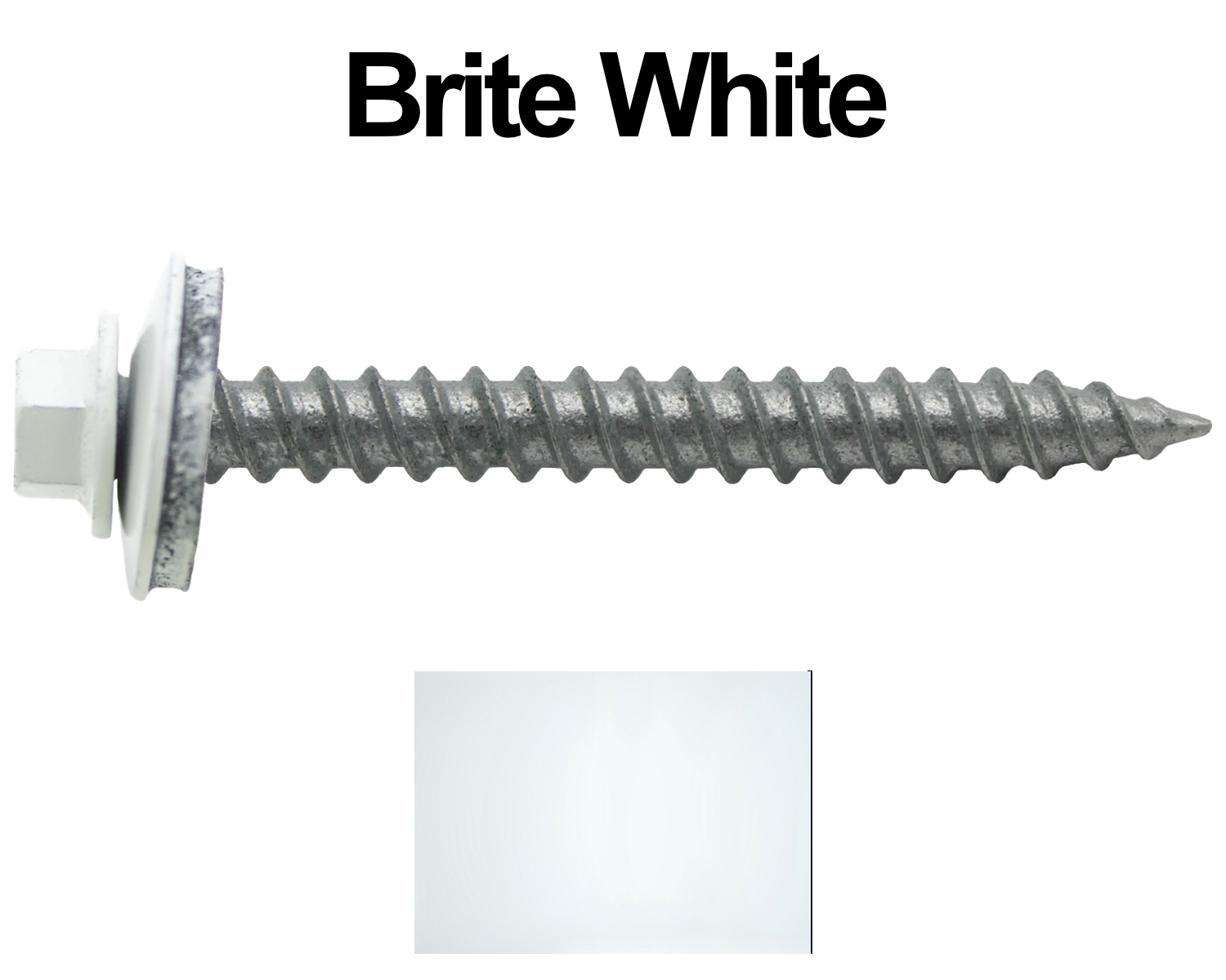 Metal Roofing Screws 250 12 X 2 1 2 Quot Brite White Hex