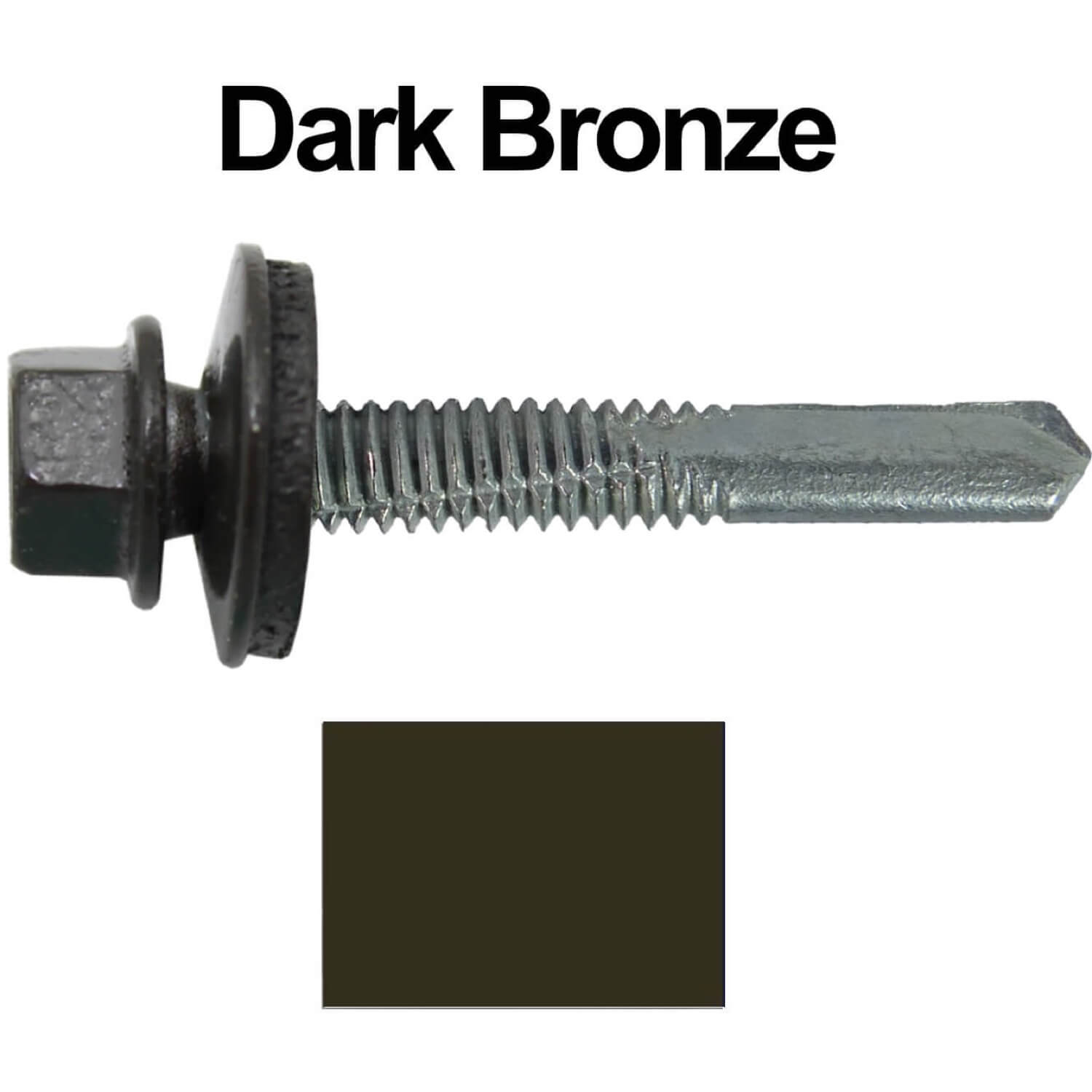 9//16 EPDM Washer #12x1-1//2 Metal to Metal Type #5 Galvanized//ZINC Hex Head Drill Point Metal to Metal Roofing Screws