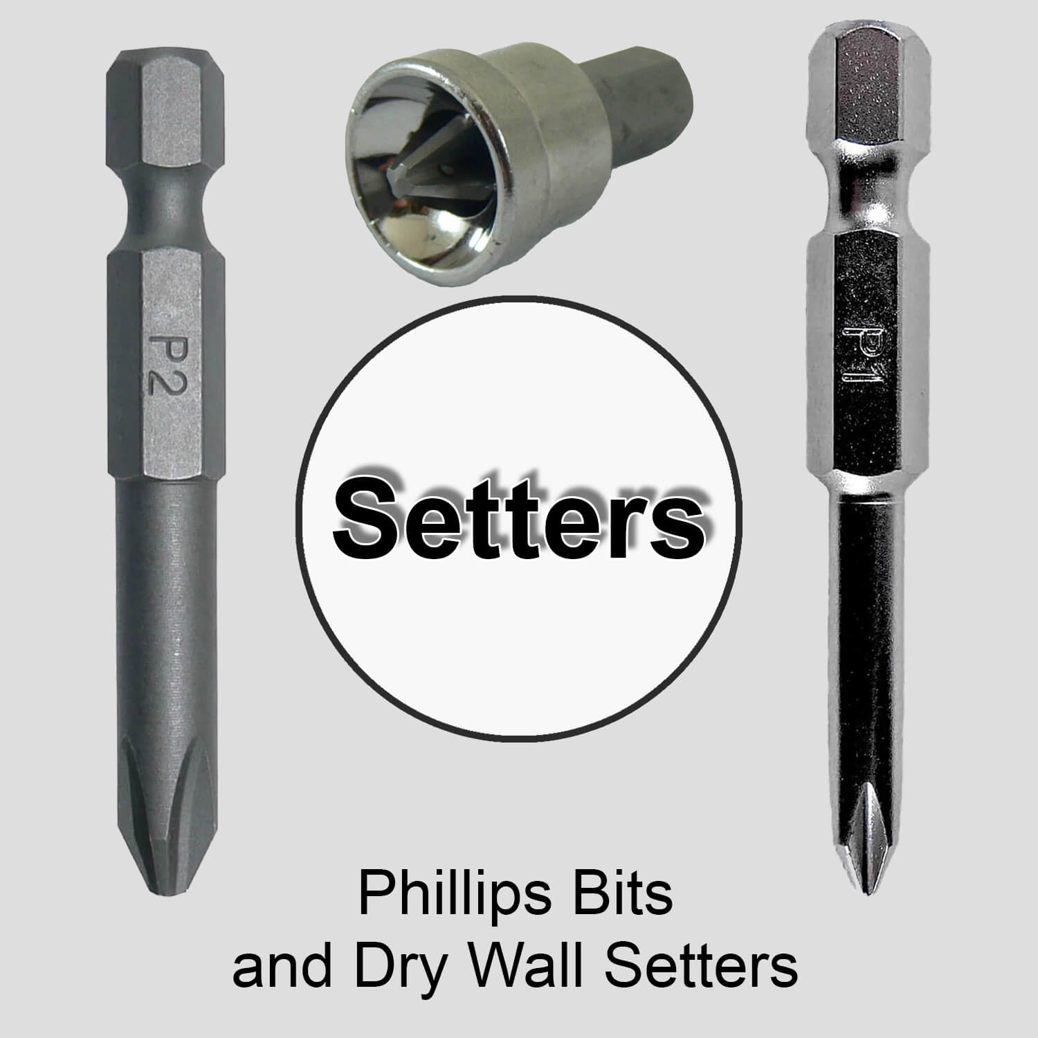 #1 and #2 Phillip Bits and Drywall Setter Bits