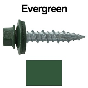 "10X1"" Metal Roofing Screws (EVERGREEN)"
