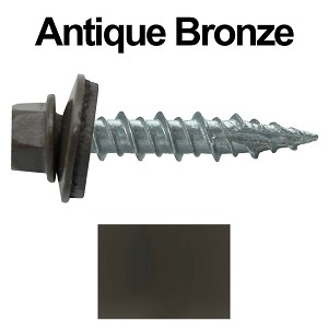 "10X1"" Metal Roofing Screws (ANTIQUE BRONZE)"