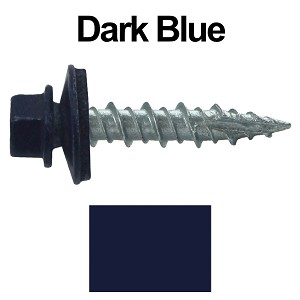 "10X1"" Metal Roofing Screws (DARK BLUE)"