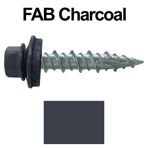 "10X1"" Metal Roofing Screws (FAB. CHARCOAL)"