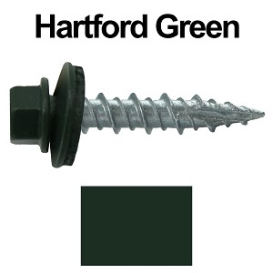 "10X1"" Metal Roofing Screws (HARTFORD GREEN)"
