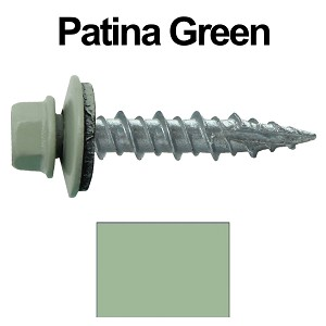 "10X1"" Metal Roofing Screws (PATINA GREEN)"