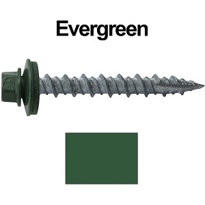 "10X1-1/2"" Metal Roofing Screws (EVERGREEN)"