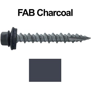 "10X1-1/2"" Metal Roofing Screws (FAB. CHARCOAL)"