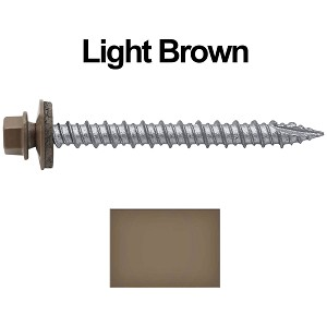 "10X2"" Metal Roofing Screws (LIGHT BROWN)"
