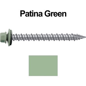 "10X2"" Metal Roofing Screws (PATINA GREEN)"