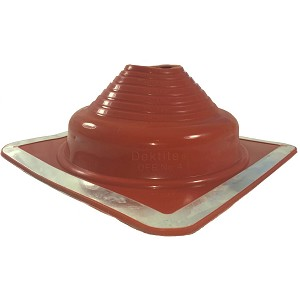 Dektite Square Base Pipe Flashing Boot 4 Dfe204re Red