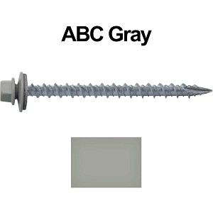 "10X2-1/2"" Metal Roofing Screws (ABC GRAY)"