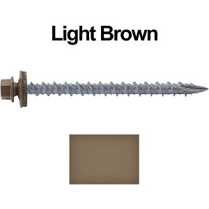 "10X2-1/2"" Metal Roofing Screws (LIGHT BROWN)"