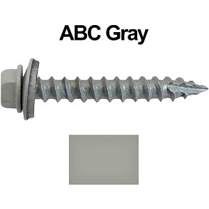 "14x1-1/2"" Metal Roofing Screws (ABC GRAY)"