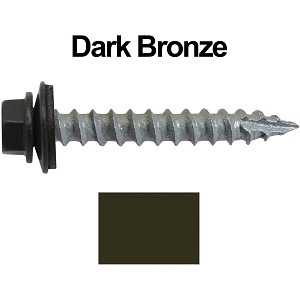 "14x1-1/2"" Metal Roofing Screws (DARK BRONZE)"
