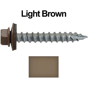 "14x1-1/2"" Metal Roofing Screws (LIGHT BROWN)"
