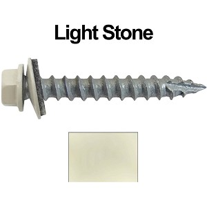 "14x1-1/2"" Metal Roofing Screws (LIGHT STONE)"