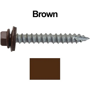 "14x2"" Metal Roofing Screws (BROWN)"