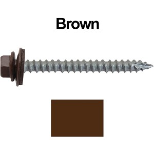 "14x2-1/2"" Metal Roofing Screws (BROWN)"