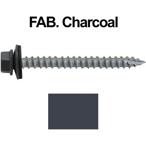 "14x2-1/2"" Metal Roofing Screws (FAB. CHARCOAL)"
