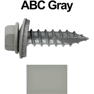 "14x1"" Metal Roofing Screws (ABC GRAY)"
