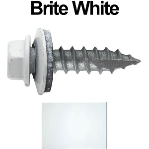 "14x1"" Metal Roofing Screws (BRITE WHITE)"