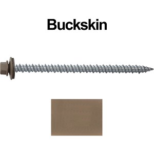 "10x3"" Metal Roofing Screws (BUCKSKIN)"