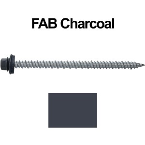 "10x3"" Metal Roofing Screws (FAB. CHARCOAL)"