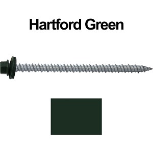 "10x3"" Metal Roofing Screws (HARTFORD GREEN)"