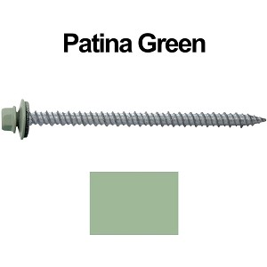 "10x3"" Metal Roofing Screws (PATINA GREEN)"