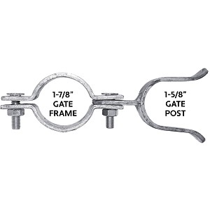 "1-7/8"" X 1-5/8"" Chain Link Gate Fork Latch"