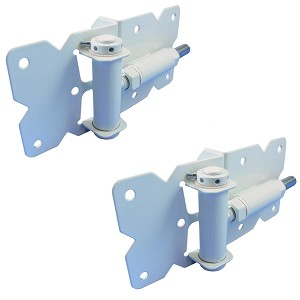 SELF CLOSING Vinyl Gate Hinges (WHITE PAIR)