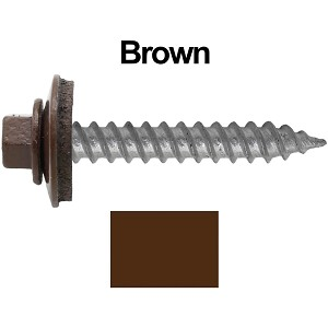 "12x1-1/2"" Metal Roofing Screw (BROWN)"