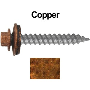 "12x1-1/2"" Metal Roofing Screw (COPPER)"