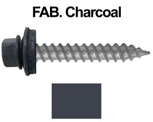 "12X1-1/2"" Metal Roofing Screws (FAB. CHARCOAL)"