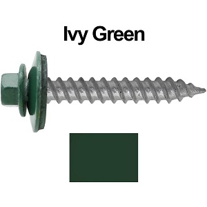"12x1-1/2"" Metal Roofing Screws (IVY GREEN/FOREST GREEN)"